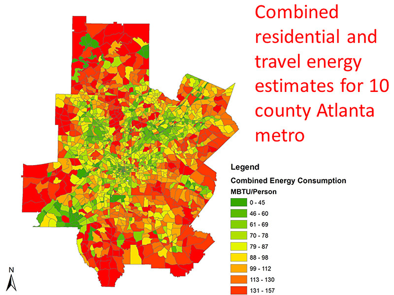 A map from the Urban Form and Energy Index project.