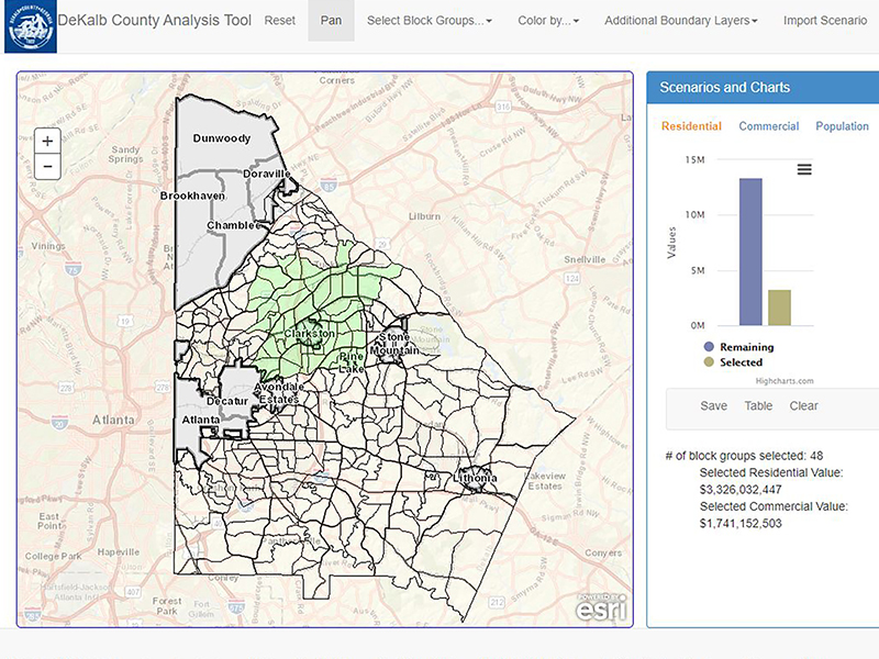 An image from the DeKalb County annexations tool.