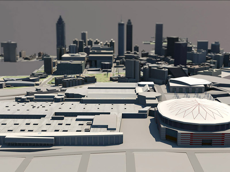 An image of a 3D rendering of the GWCC.