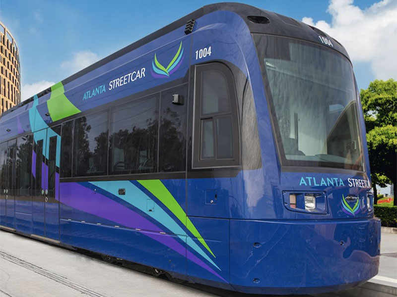An image from the Atlanta Streetcar project.