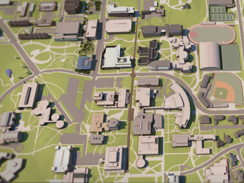 render of the GT campus
