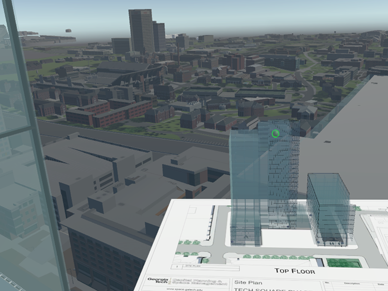 VR models of the GT campus