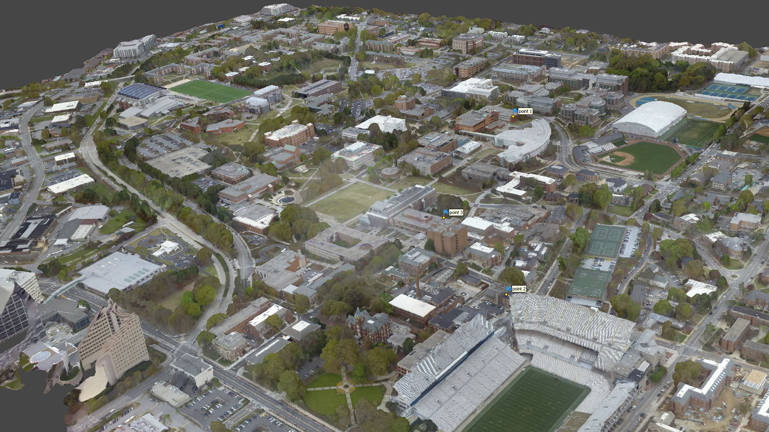 photogrammetry of the Georgia Tech Campus