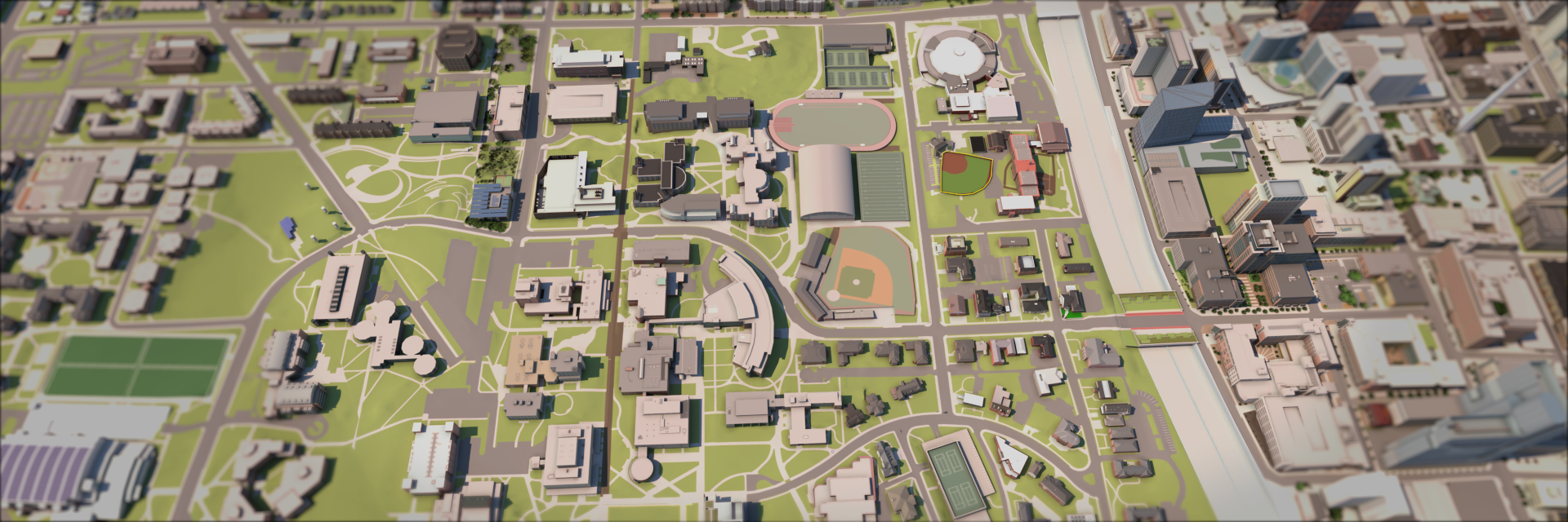 Rendered View of campus